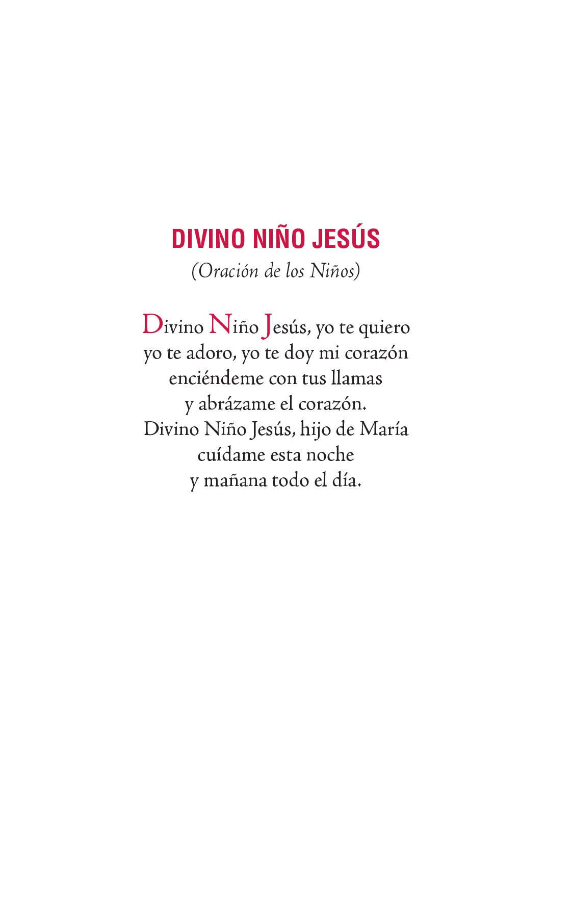 Divino Niño Jesús - Oración de los niños