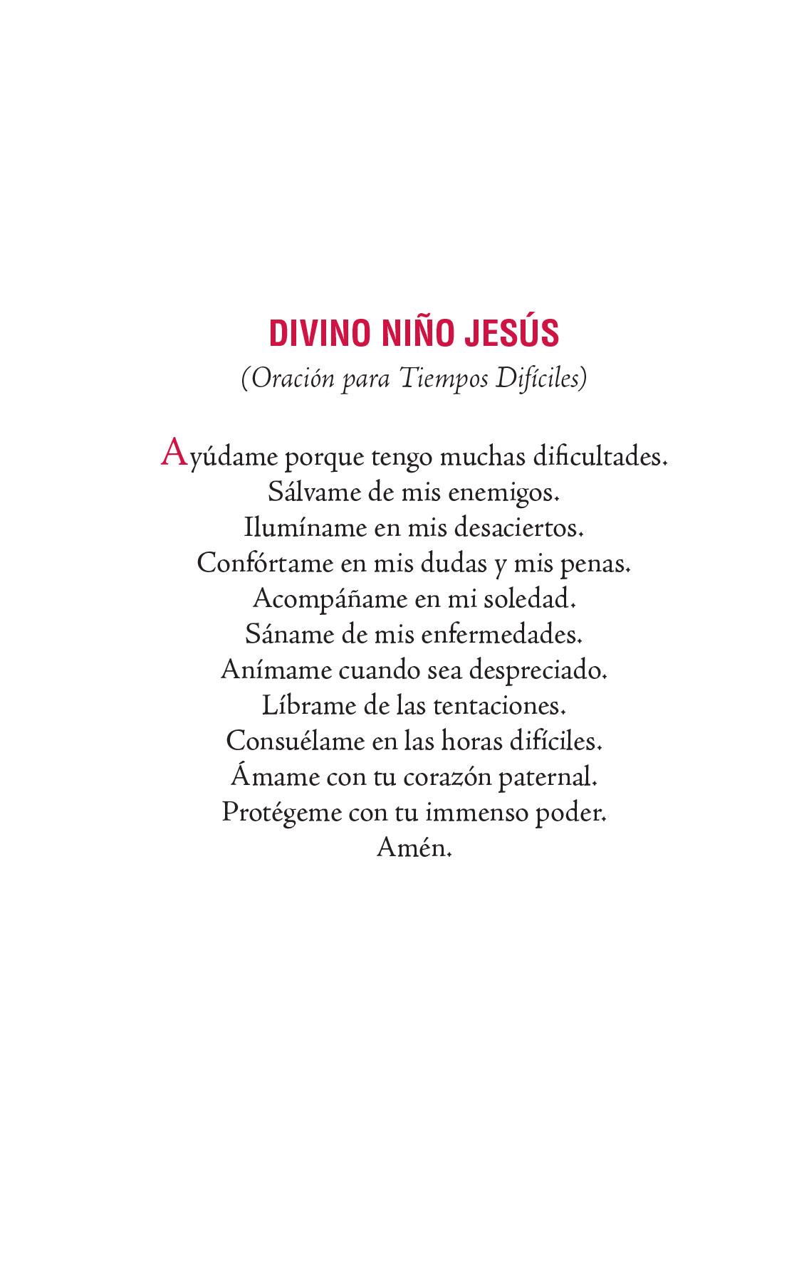 Divino Niño Jesús - Oración para tiempos difíciles