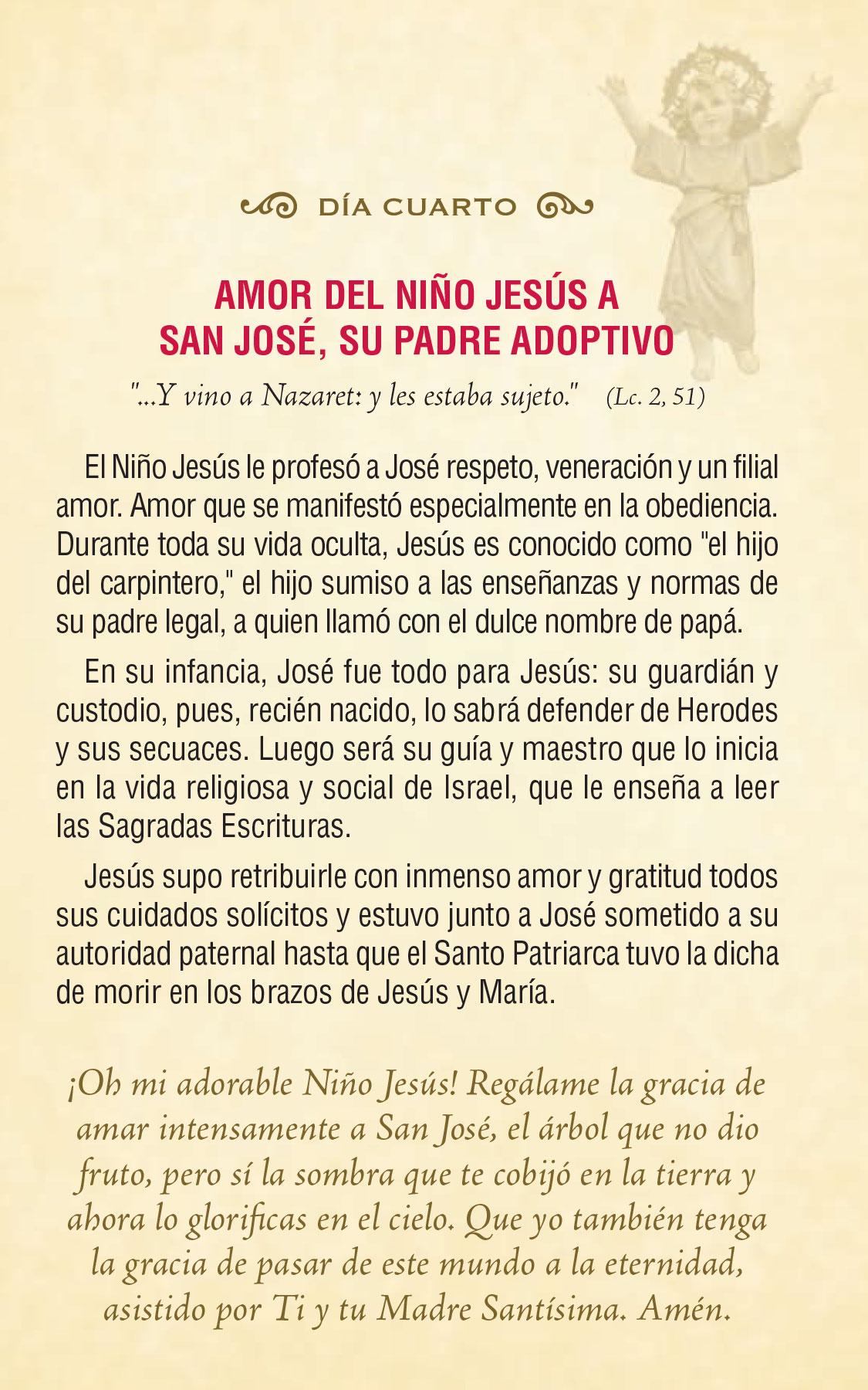 Divino Niño Jesús - día cuarto