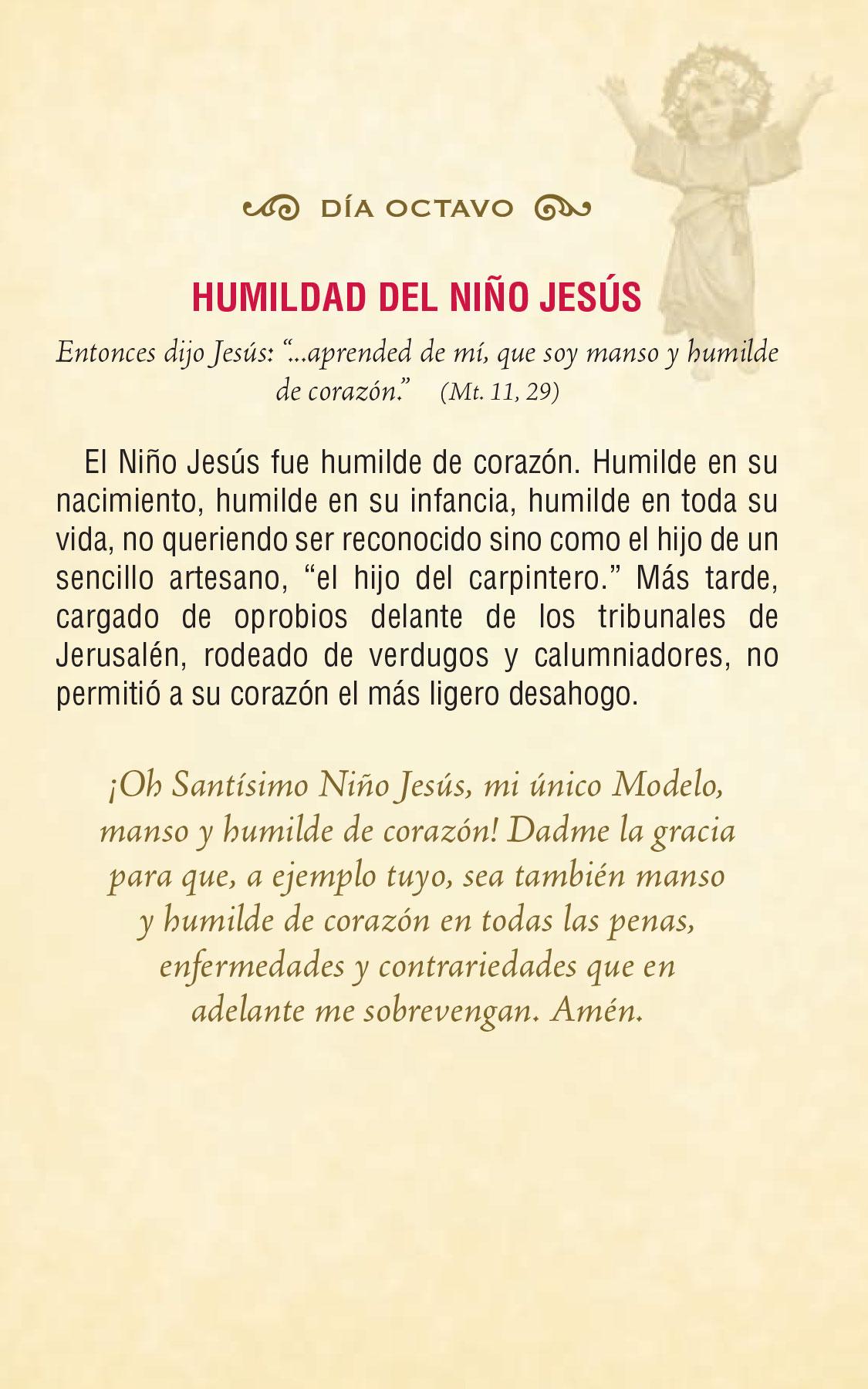 Divino Niño Jesús - día octavo