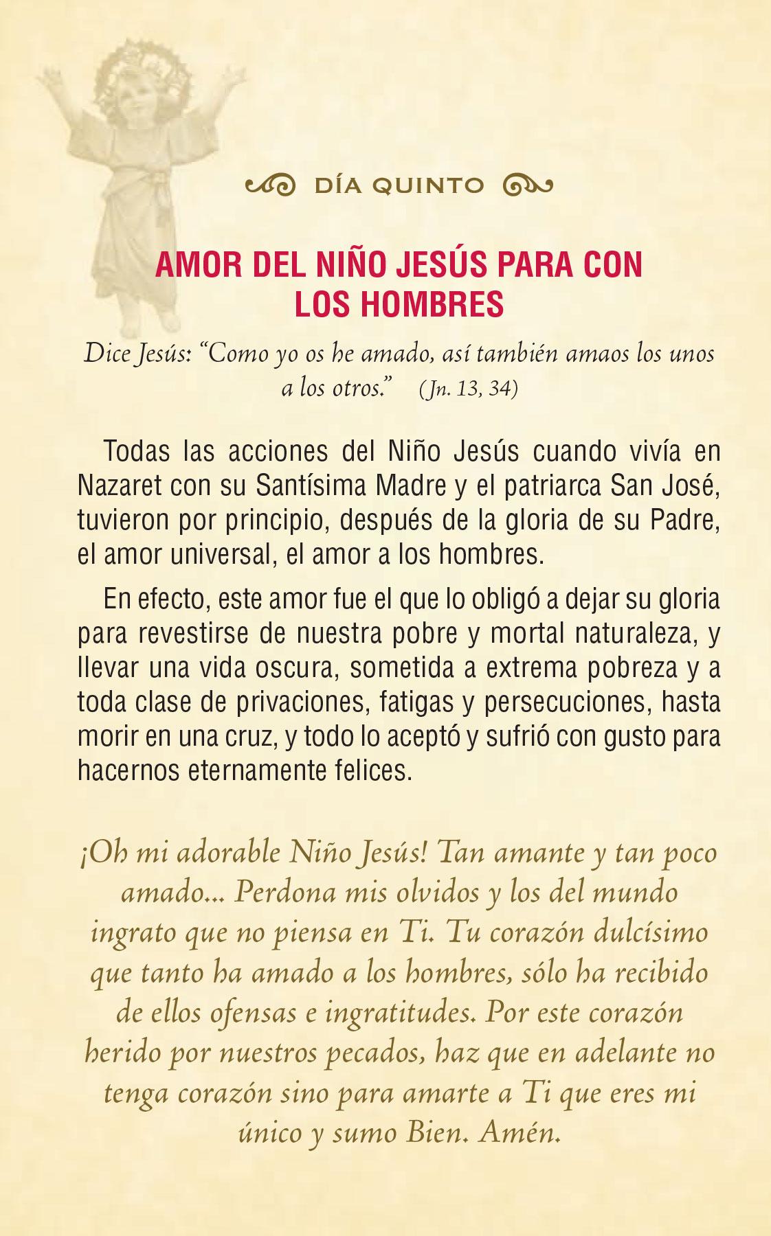 Divinio Niño Jesús - día quinto