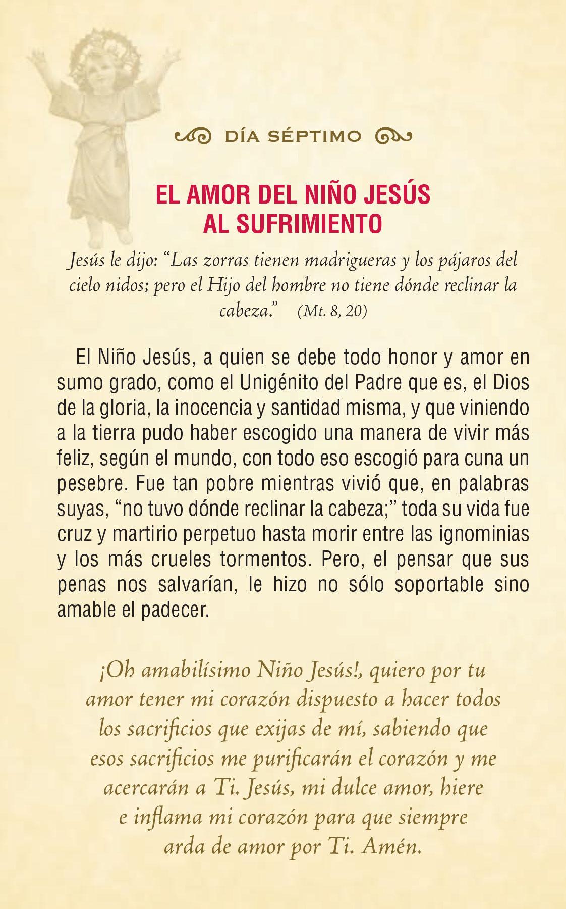 Divinio Niño Jesús - día séptimo