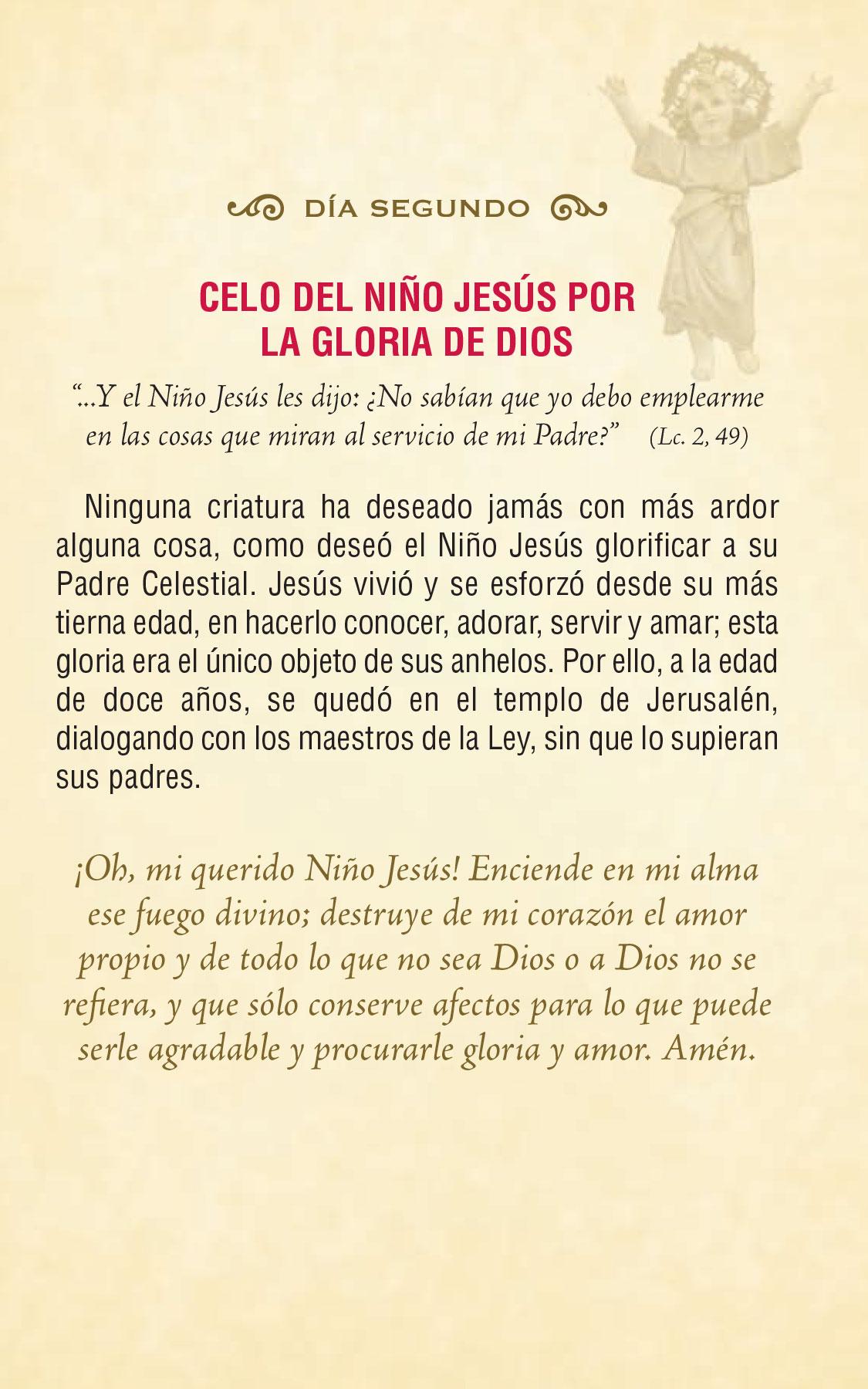 Divino Niño Jesús - día segundo