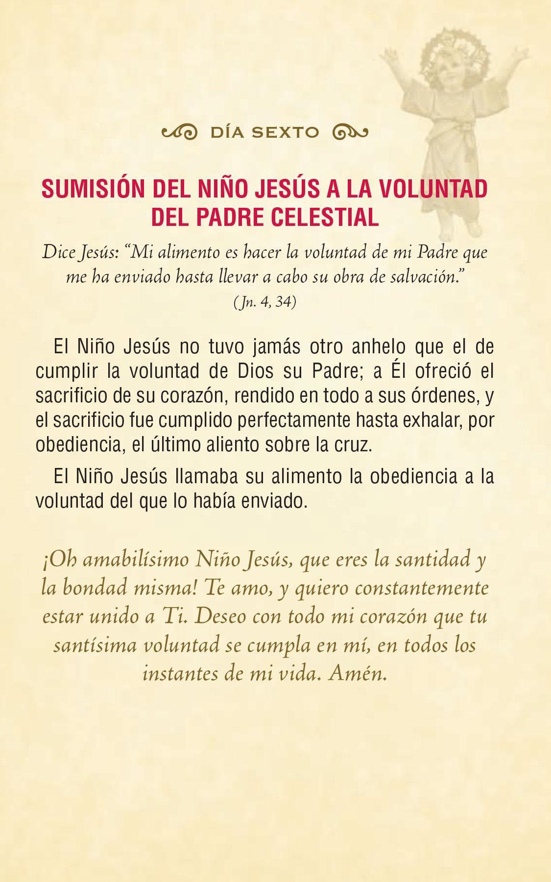 Divinio Niño Jesús - día sexto