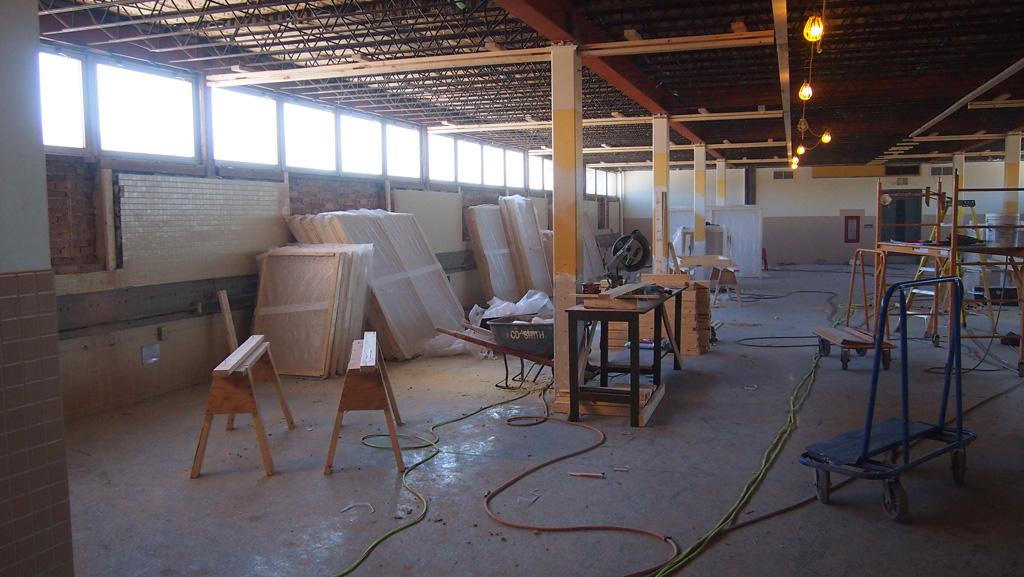 Empieza el trabajo interior en el Edifcio San Antonio – Invierno 2014